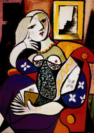 Woman with a book picasso