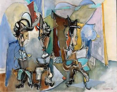 Max-Weber-xx-Three-Literary-Gentlemen-1945