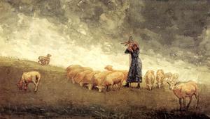 Winslowhhomer_shepherdess_tending_2