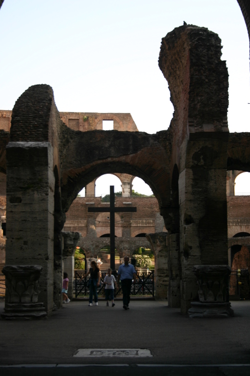 Cross in Colliseum